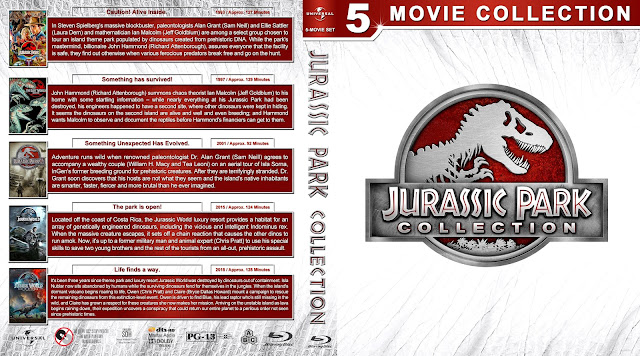 Jurassic Park Collection Bluray Cover