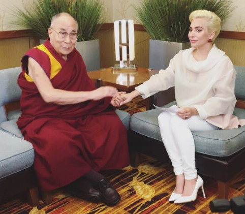 lady gaga banned from china dalai lama