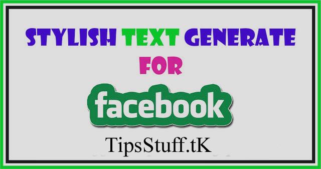 Stylish Fonts for Facebook