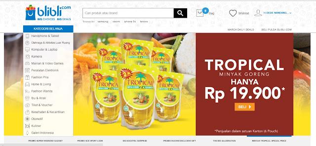 Alhamdulilah Dapat Promo Minyak Goreng Tropical 6 Bks Hanya Rp 69.000