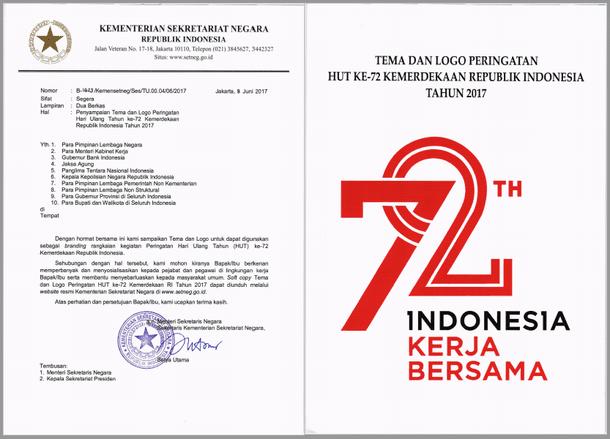 Tema dan Logo Peringatan HUT Ke-72 Kemerdekaan Republik Indonesia Tahun 2017