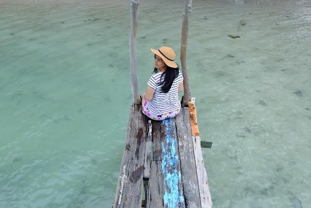 pantai saung cemara kasih pulau tidung