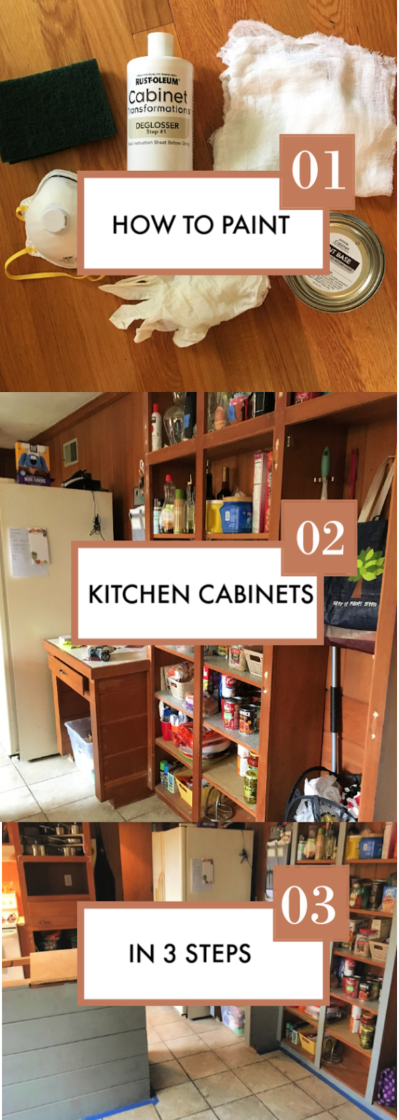 How to Paint Wood Cabinets with Rust-Oleum Cabinet Transformation (One Room Challenge)
