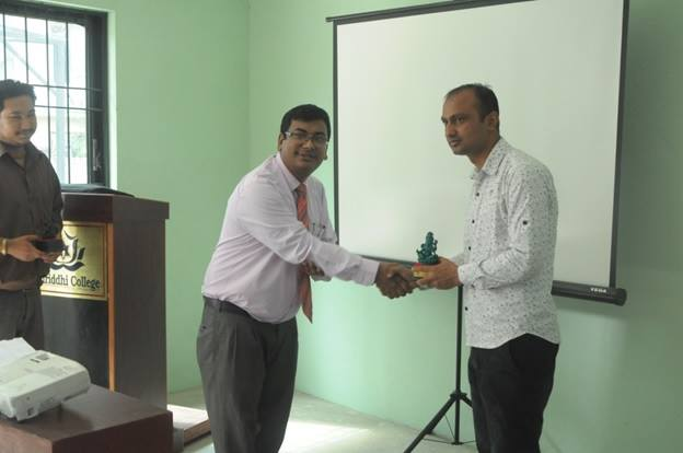 Mr. Chiranjibi Adhikari presented cyber security program