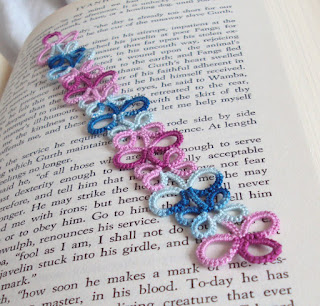 tatting lace bookmark