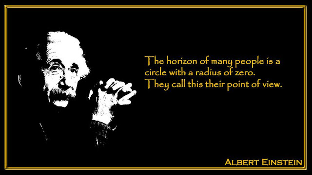 The horizon of many people is a circle with a radius of zero  Albert Einstein inspiring quotes