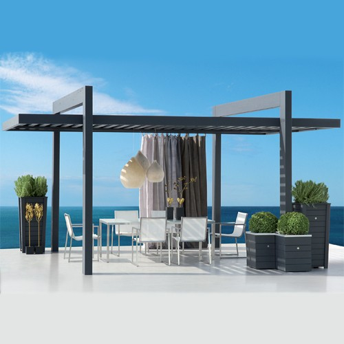 modern metal gazebo. Black Bedroom Furniture Sets. Home Design Ideas
