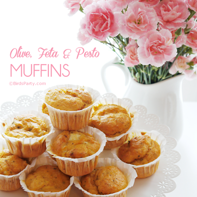 Feta, Olive and Pesto Muffins Recipe