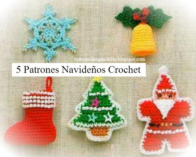 5 patrones de crochet para navidad