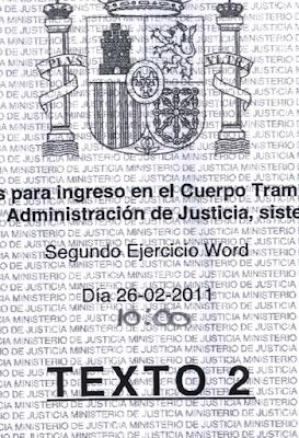 1381 Ejercicios Word Tramitación Procesal Opositores Justicia