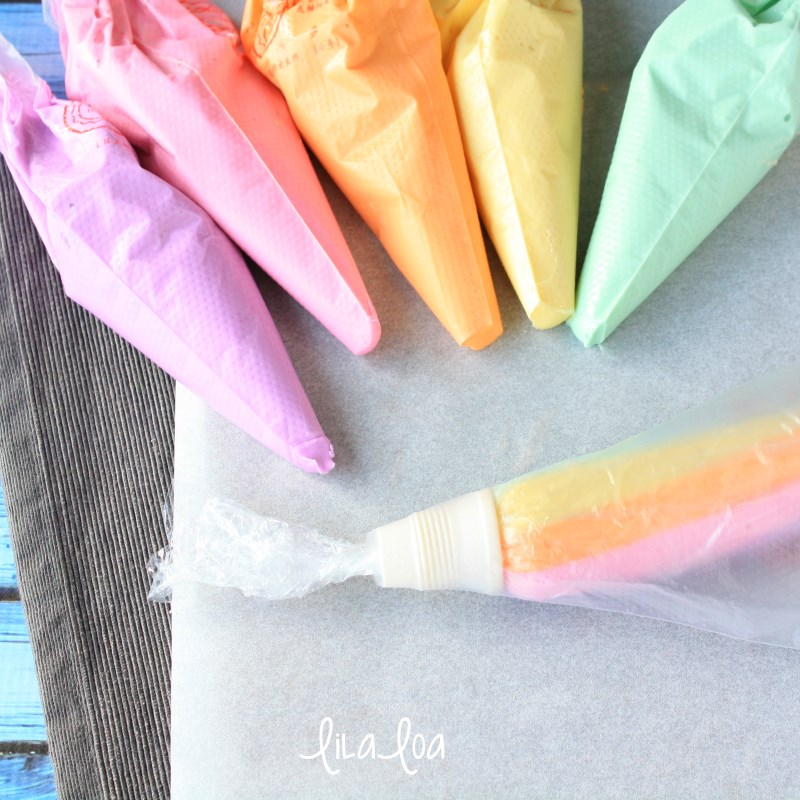 rainbow royal icing