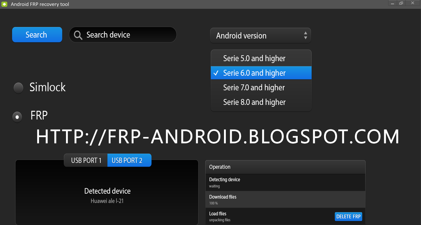 FRP android software tool
