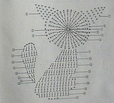 Схема как связать крючком кота