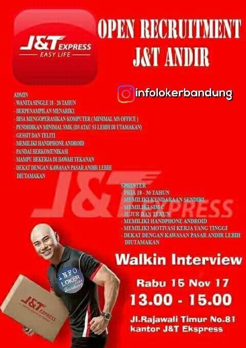 Lowongan Kerja J&T Express ( Walk in Interview Rabu November 2017