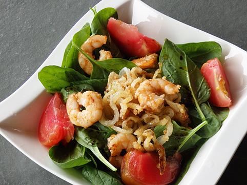 Ensalada de espinacas y gambas o langostinos for Comidas sencillas y ricas