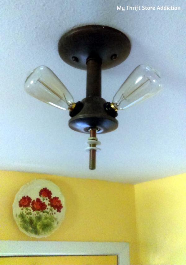 DIY updated farmhouse light fixture