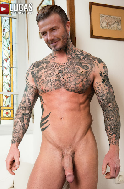david beckham going nude