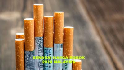 Senarai Harga Rokok Terkini 2018 Malaysia