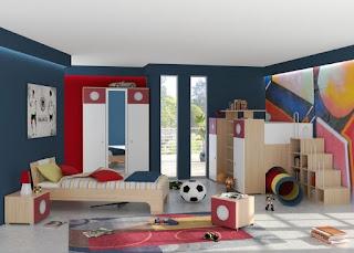 dormitorio moderno para niño