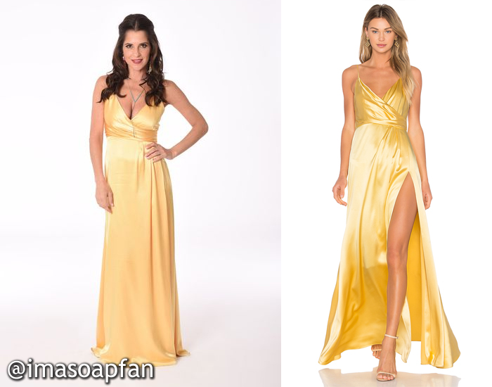 Sam Morgan, Kelly Monaco, Yellow Satin Gown, Jill Jill Stuart, Nurses's Ball, GH, General Hospital
