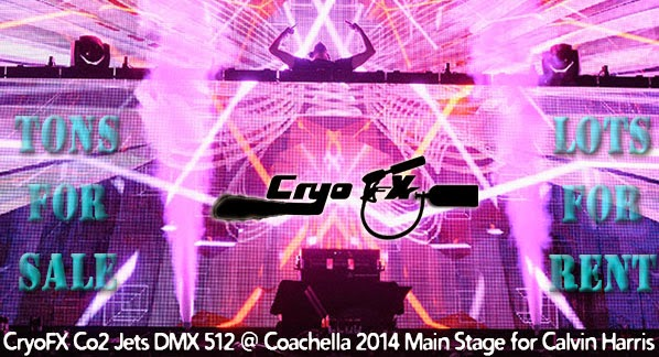 Calvin Harris Coachella 2014 Main Stage - CryoFX Co2 Jets