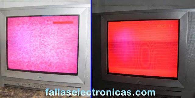 pantalla roja y con rayas blancas