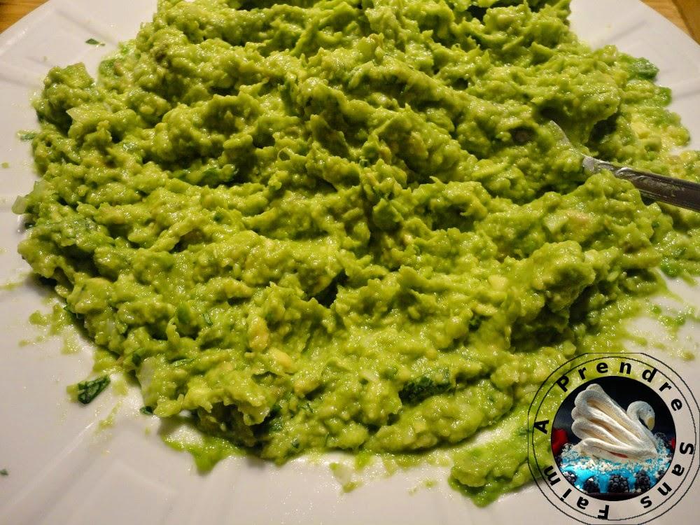 Guacamole fait maison à la coriandre (pas à pas en photos)