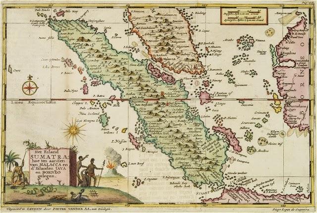 Peta Sumatera, tahun 1725