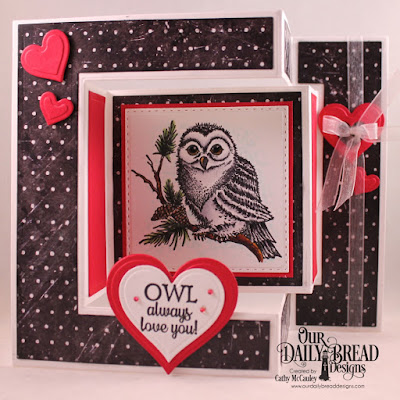 Our Daily Bread Designs Stamp Set: Winter Greetings, Paper Collection: Chalkboard, Custom Dies: Tri-Fold Card With Layers, Double Stitched Squares, Layering Hearts