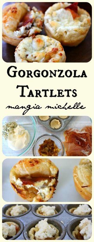 Gorgonzola and Caramelized Onion Tartlets