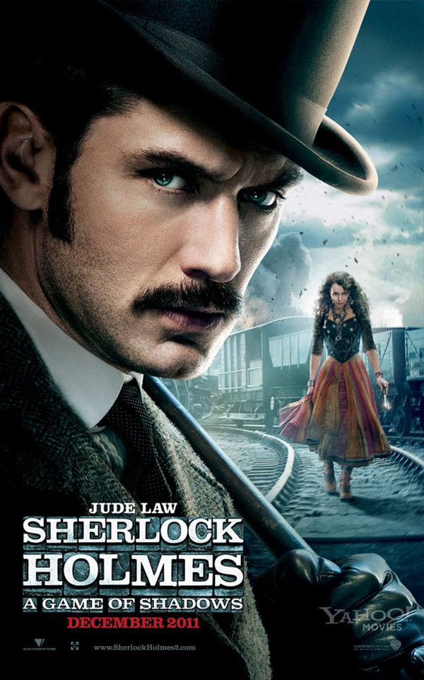 Póster de Sherlock Holmes: A Game of Shadows con Jude Law