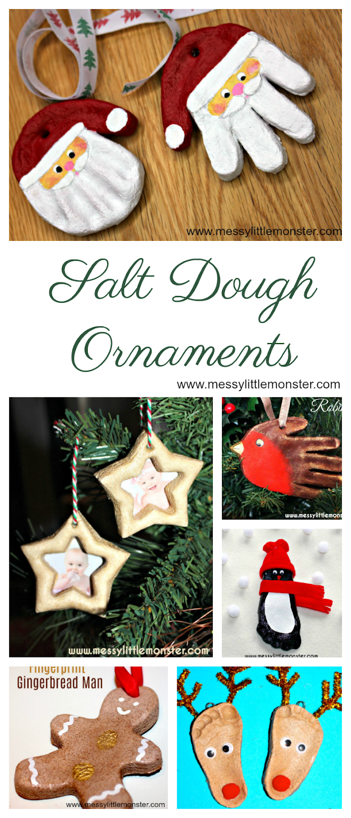 Salt dough ornaments. Use our salt dough ornament recipe to make your own salt dough Christmas ornaments. Christmas crafts for kids.