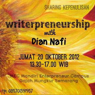 Sharing Writerpreneurship At MEC Campus