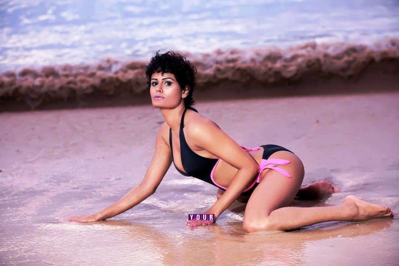 sri lankan tv presenter shashi bikini image