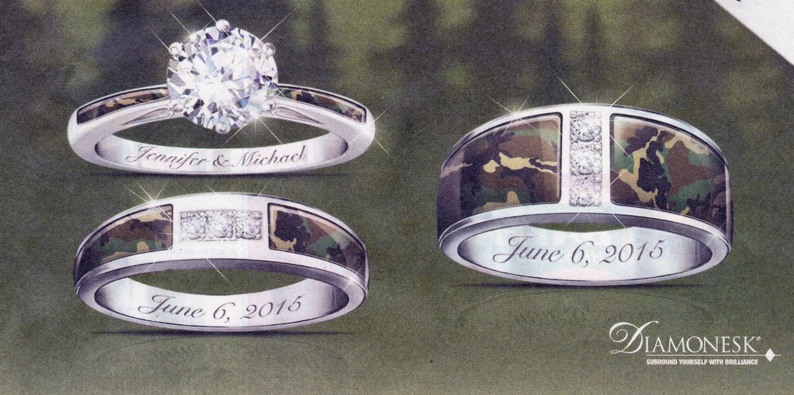 I Found Camo Wedding Rings