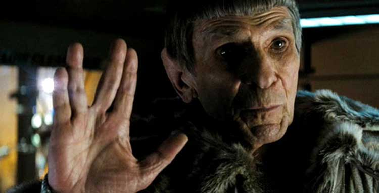 Leonard Nimoy reprises his role as Spock in J.J. Abrams' Star Trek.