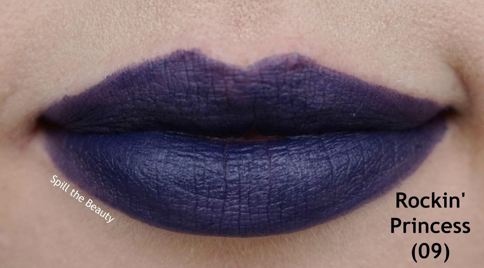 essence matt matt matt vibrant shock lipstick review swatches 09 rockin princess - lips