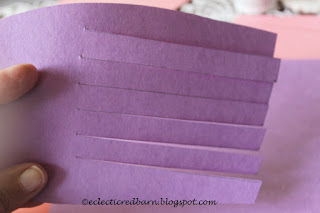 Eclectic Red Barn:Cut each side of the heart onto construction paper on the lines
