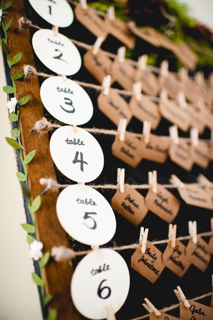 Becky On Weddings: 8 Inventive Seating Chart Ideas For
