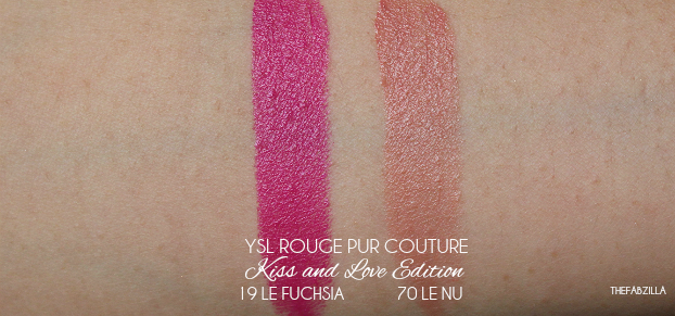 YSL ROUGE PUR COUTURE KISS & LOVE LIMITED EDITION, Le Nu, Le Fuchsia, review, swatch