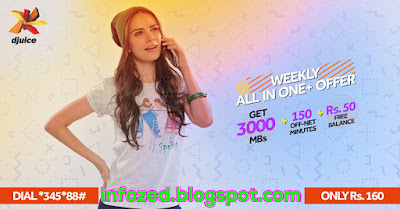 Djuice Weekly all in One 2018 offer, Internet Data, Free Minutes, SMS djuice, djuice pakistan, telenor, telenor pakistan, all in one offer, aio offer, offer 2018, internet bundle, sms bundle, voice calls bundle,
