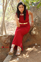 Telugu Actress Zahida Sam Latest Pos in Red Gown at RF Films New Movie Opening  0274.JPG