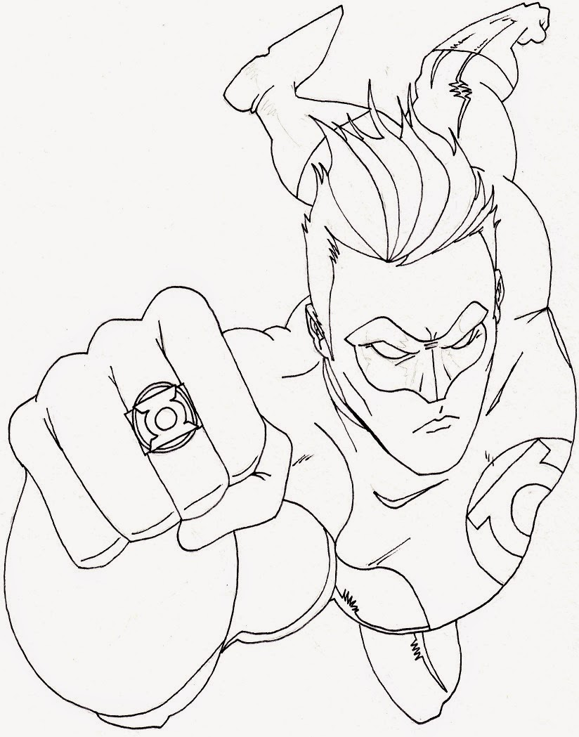 superhero free coloring pages - photo#39