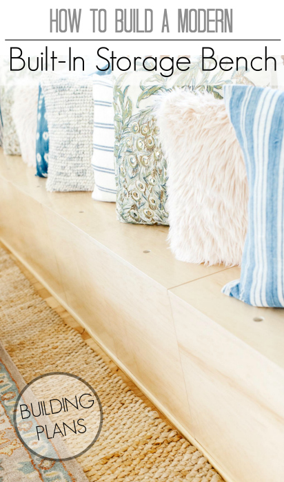 How to build a modern built-in bench with hidden toy storage.