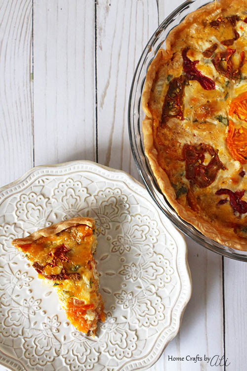 fresh and colorful savory southern tomato pie