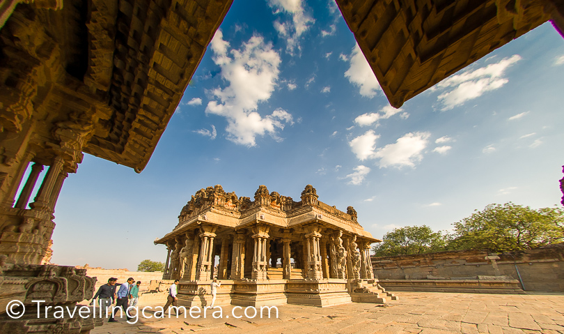 Vithala temple is one of the important temples of Vijayanagara, which has amazing architecture. Like other temples in south India, this one is also with a huge compound with various temples around.