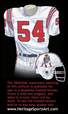 New England Patriots 1988 uniform