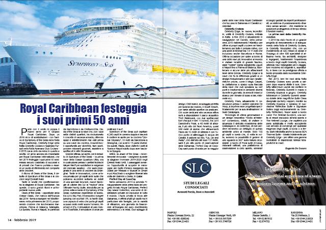 FEBBRAIO 2019 PAG. 14 - Royal Caribbean festeggia i suoi primi 50 anni
