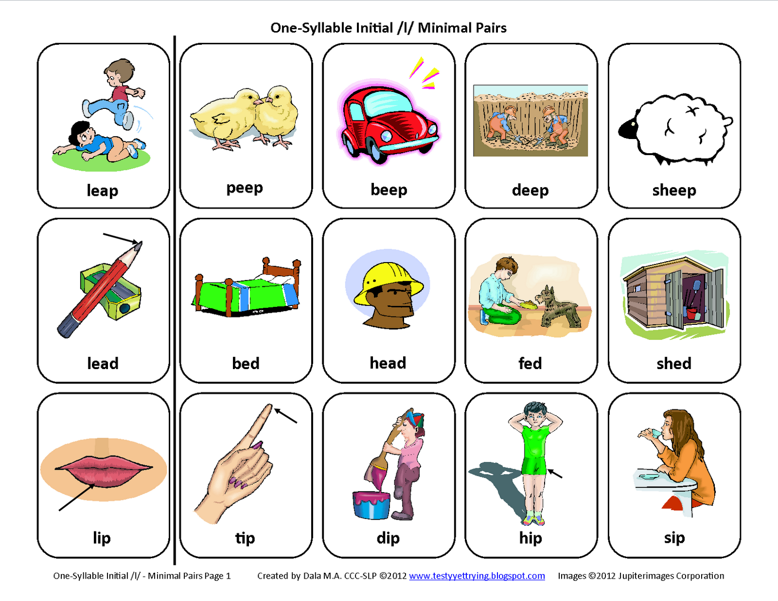 Testy Yet Trying Initial L Minimal Pairs Free Speech