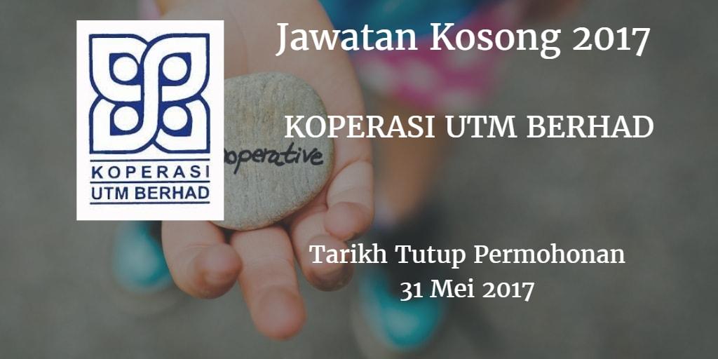 Jawatan Kosong Koperasi UTM Berhad 31 Mei 2017